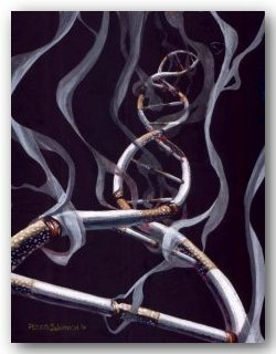 Smoking DNA ©Peter Sakievich 2002