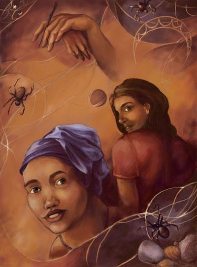 Beguiling Mona illustration © 2003 Nicole Cardiff
