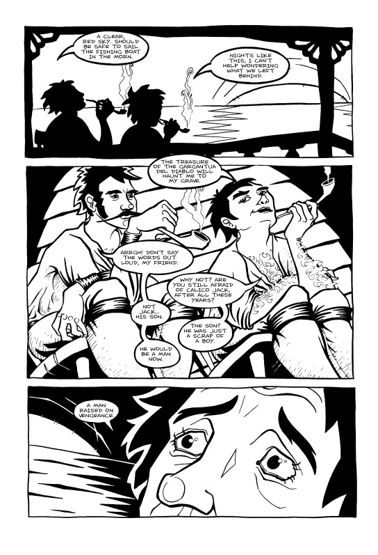 <cite>Violet Miranda</cite>, Page 5 © Emily Pohl-Weary and Willow Dawson 2005