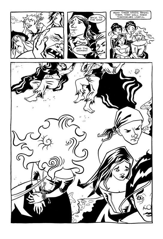<cite>Violet Miranda</cite>, Page 21 © Emily Pohl-Weary and Willow Dawson 2005