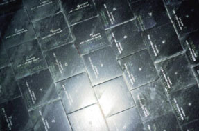 ceramic Space Shuttle tiles; photo courtesy of NASA