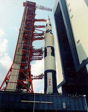Saturn V rocket; photo courtesy of NASA