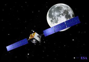 SMART-1 orbital surveyor; artist's rendering courtesy of NASA