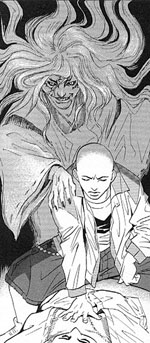 Kuro Karatsu and his ghost from Kurosagi Corpse Delivery Service