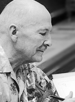 Robert A. Heinlein at the 1976 World Science Fiction Convention in Kansas City.