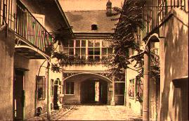 The courtyard of Schubert's birth house