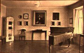 An interior view of Schubert's birth house