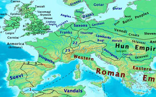 Boundaries c. 450 CE