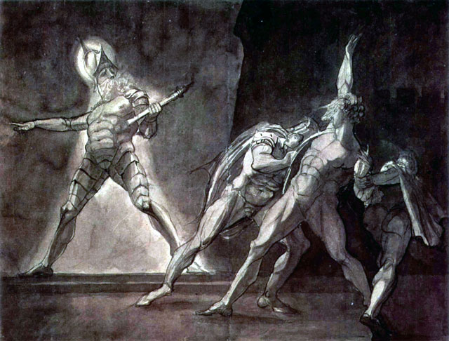 """Hamlet and his father's ghost,"" by Henry Fuseli, 1780s"