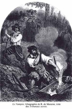 Le Vampire, by R. de Moraine, 1864