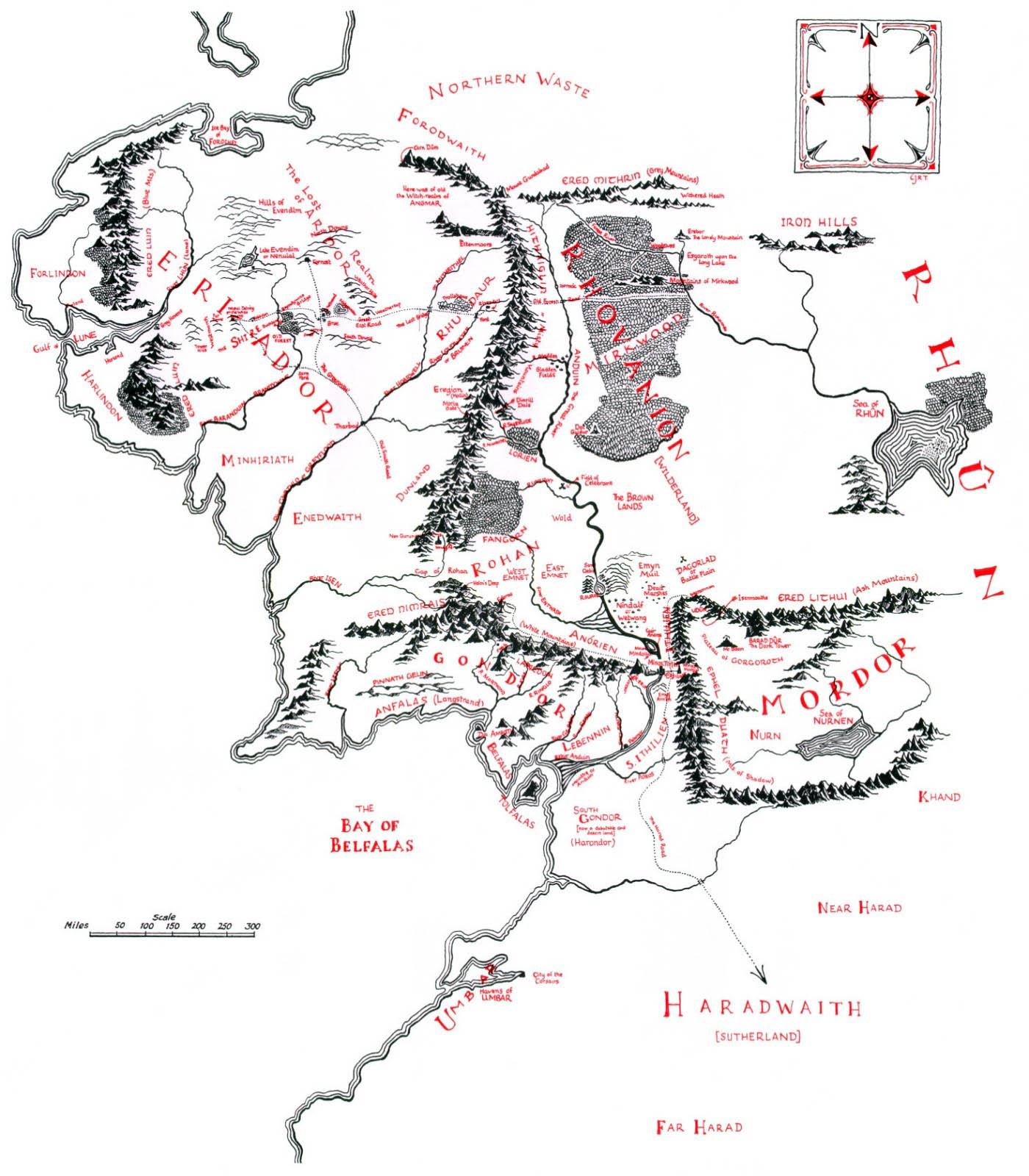 Strange horizons written in maps by ccile cristofari the map of j r r tolkiens middle earth biocorpaavc Choice Image