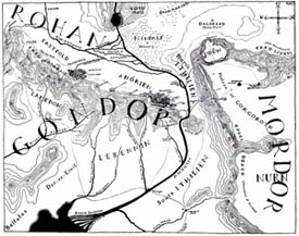 Gondor, Mordor, and Rohan