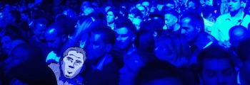 Even in a crowd, even at a Grace Jones concert, Kenneth is always completely singular and utterly alone.