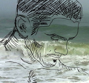 Kenneth staggers under the sudden realization that every wave pounding the Fire Island shore is a clock ticking him one tick closer to death.